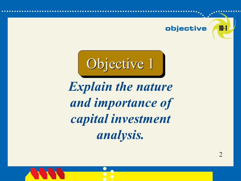 Capital Investment Analysis - ppt video online download - investment analysis