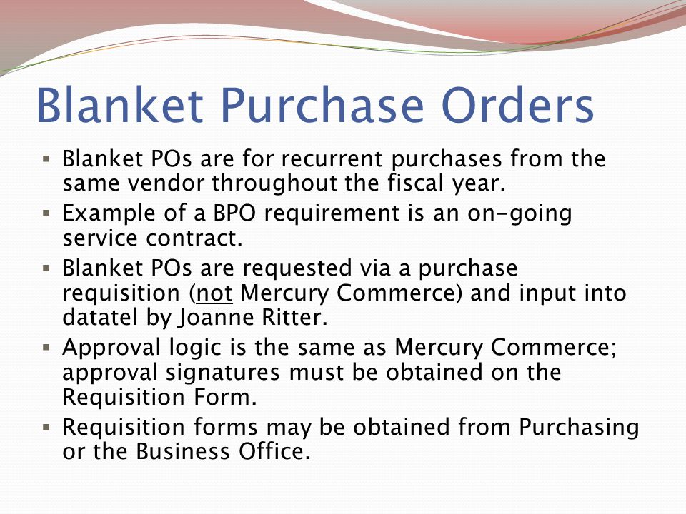 Sample Blanket Purchase Agreement Template Oracle Purchasing
