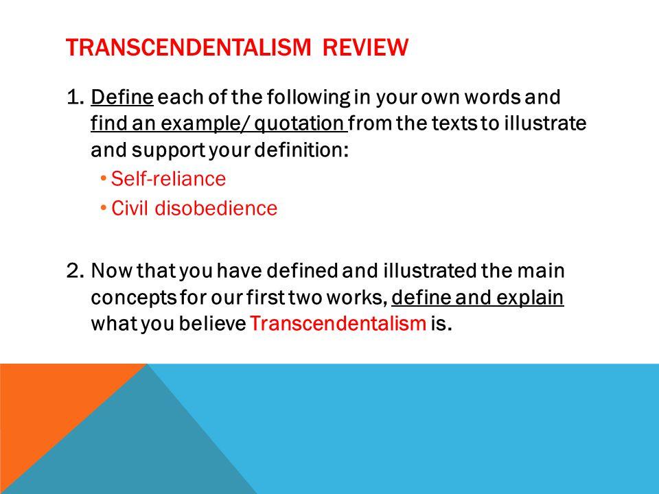 Transcendentalism definition essays \u2013 Your Works Library
