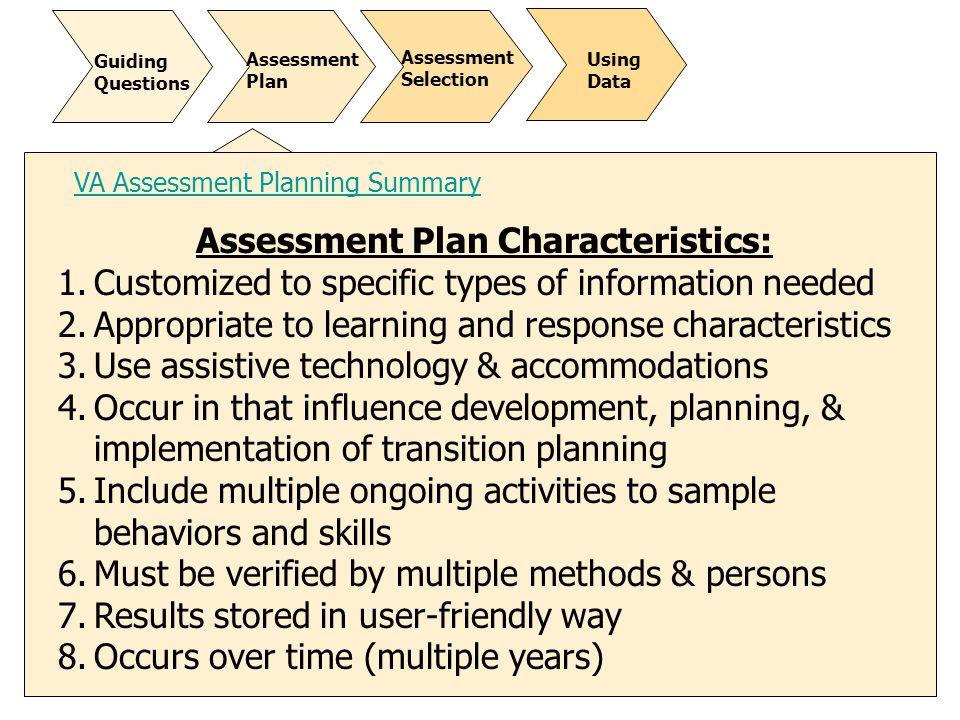 Student-Focused Planning - ppt download - sample assessment plan
