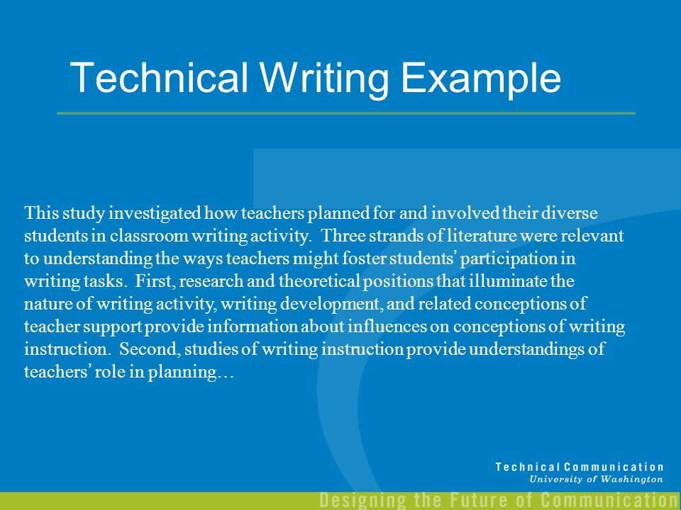 Nature of technical writing Coursework Sample - bluemoonadv