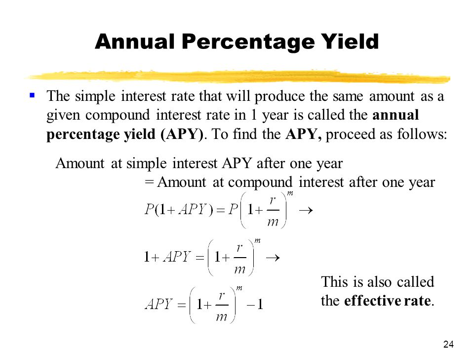 Chapter 3 Mathematics of Finance - ppt video online download - annual interest rate formula
