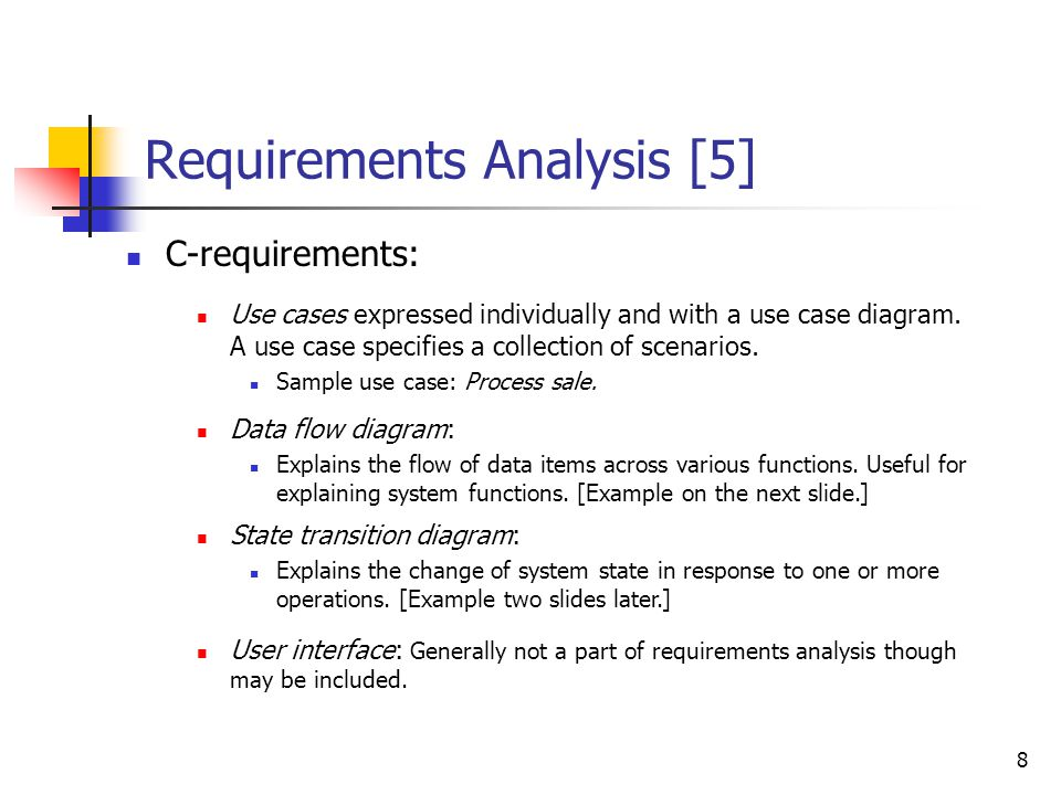 Requirements Analysis-1 - ppt download - sample requirement analysis