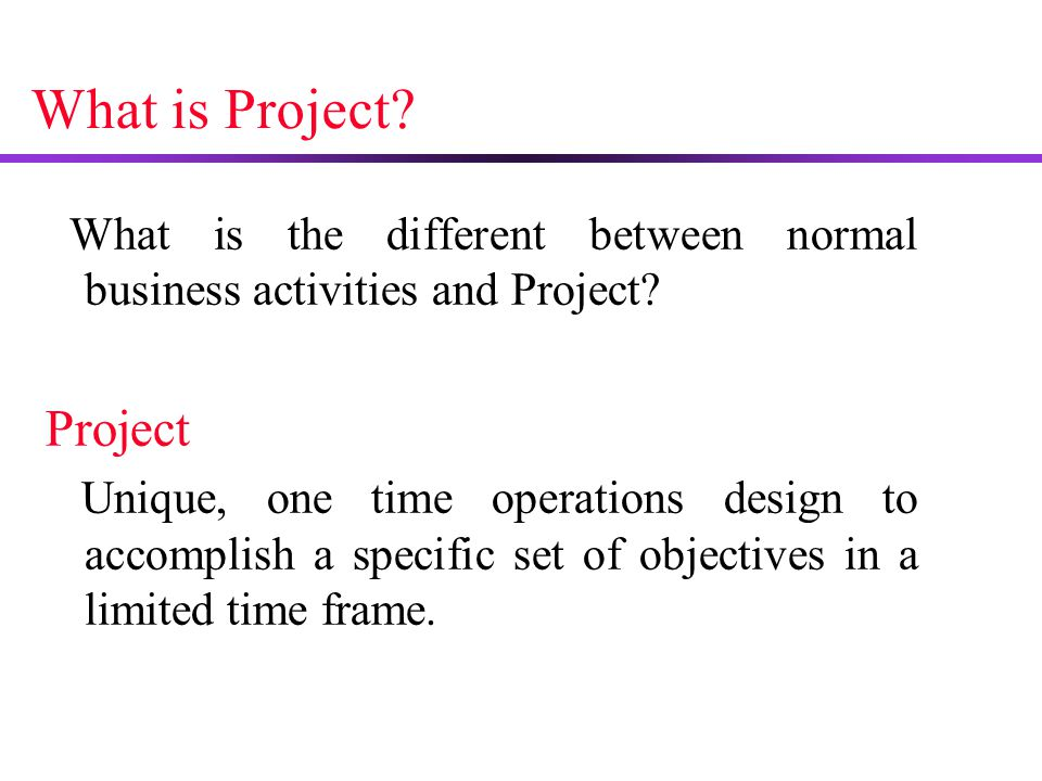 what is a project outline