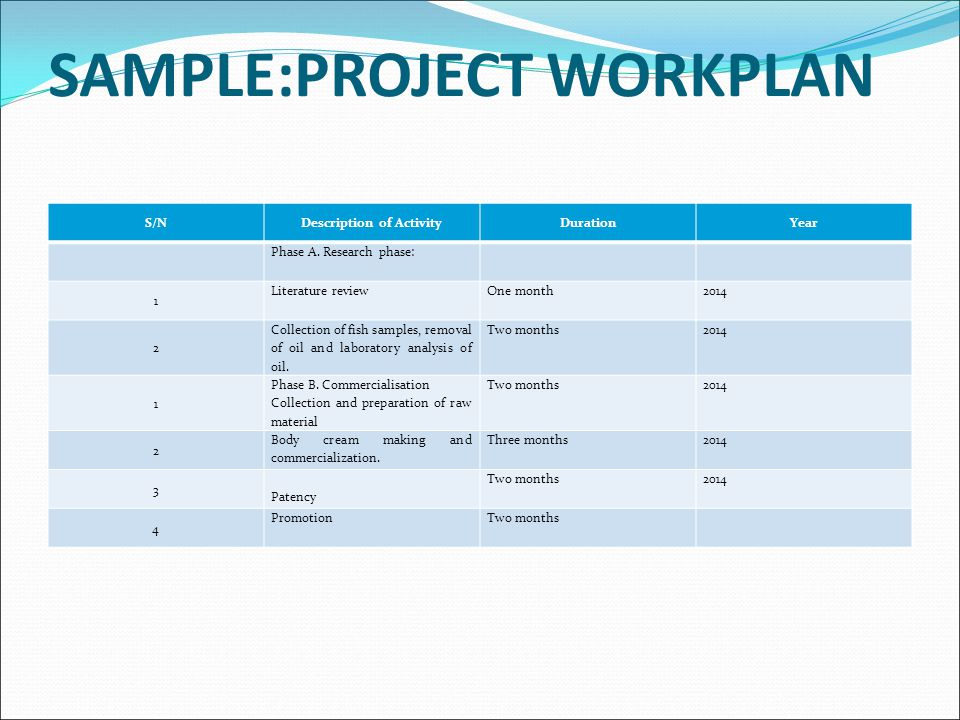 Sample Work Plan  NodeCvresumePaasproviderCom