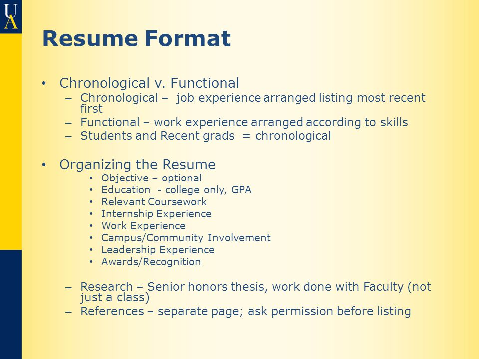 resumes references format