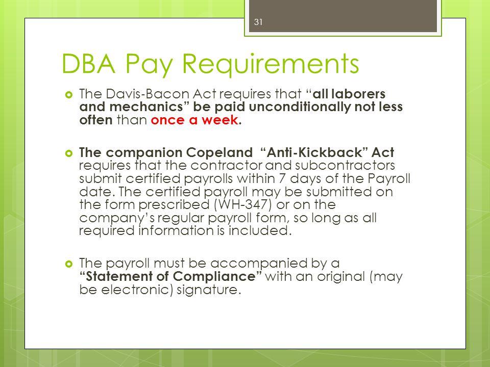 Davis-Bacon Act (DBA) Eva Auman - ppt download - certified payroll form