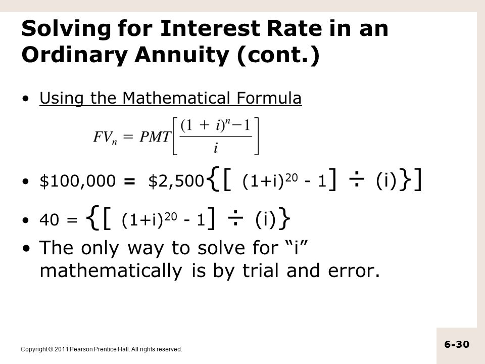 The Time Value of Money Annuities and Other Topics - ppt download - annuity equation