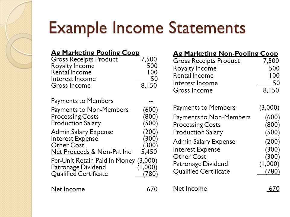 Income Statement Inclusions Income Statement And Balance Sheet