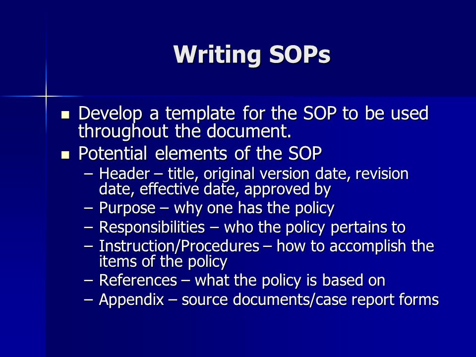 ... Why Sop Is Used Five Steps To Create Sop Template Writing A   Why Sop  Is ... Great Ideas