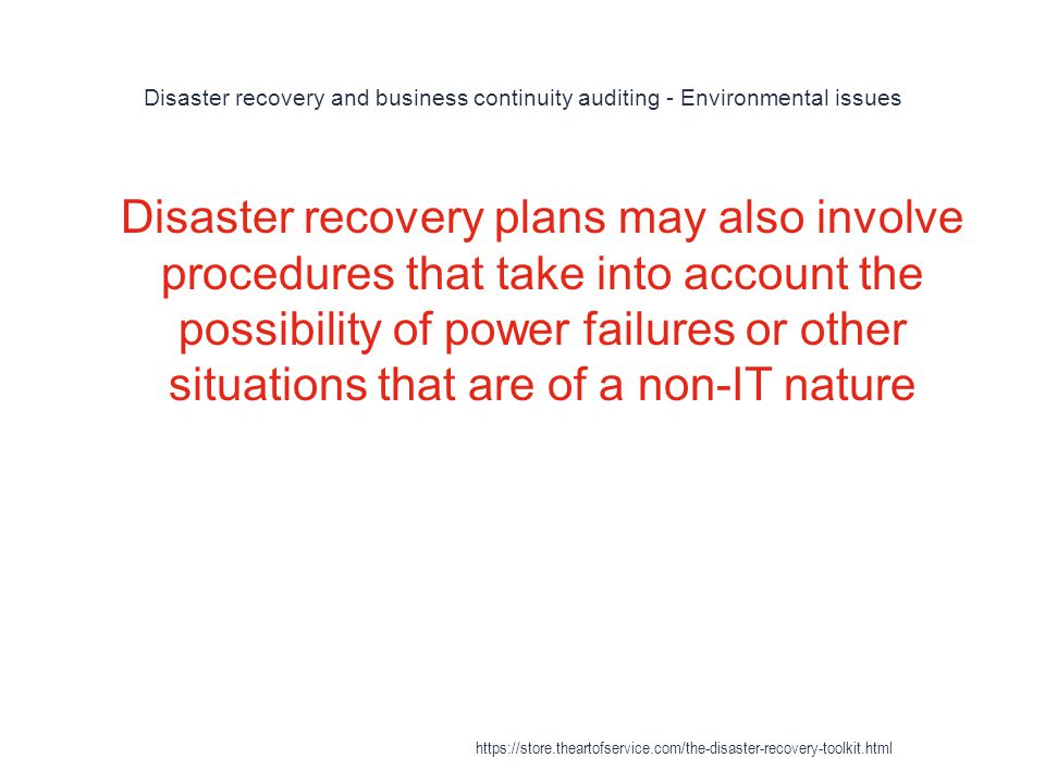 Disaster Recovery https\/\/storetheartofservice\/the-disaster - recovery plans