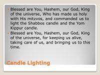 Candle Lighting Prayer For Shabbat And Yom Kippur ...