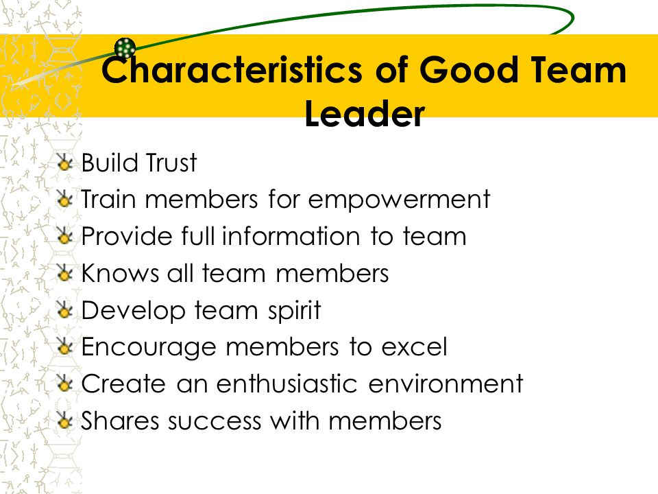 characteristics of a good team leader - Onwebioinnovate