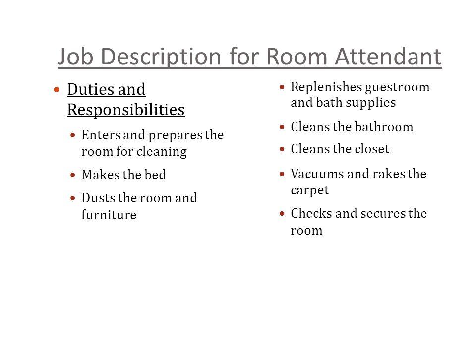 duties of housekeeping - Trisamoorddiner