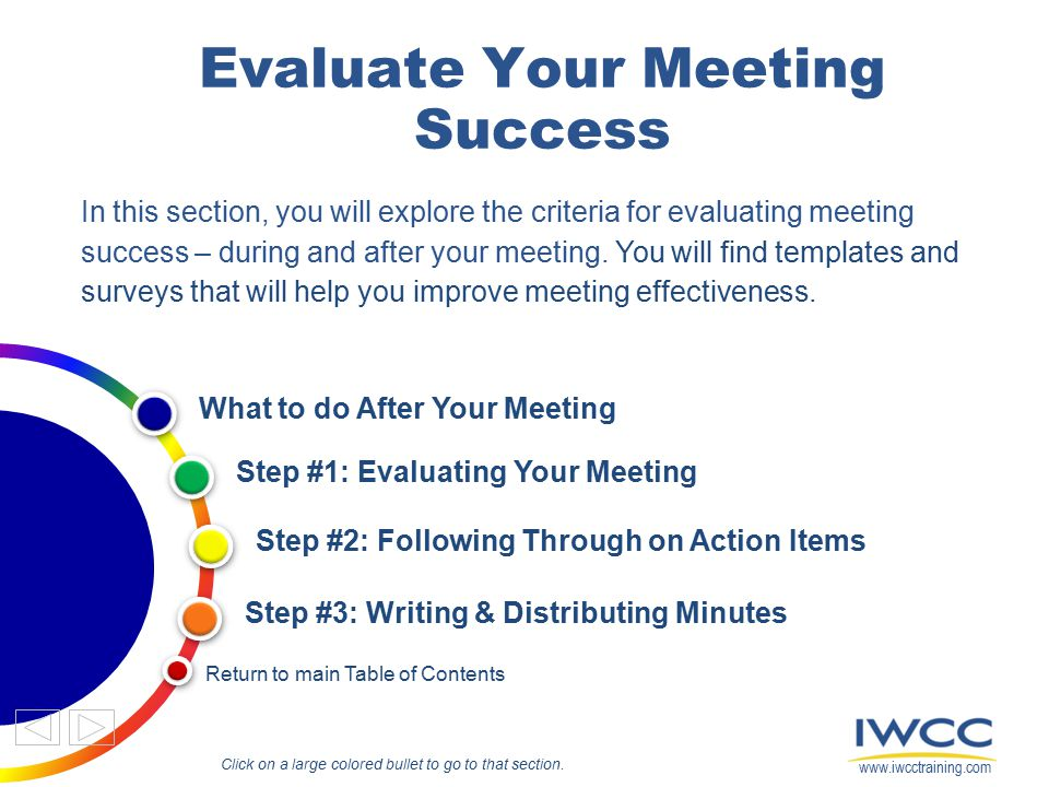 for EVALUATING Meeting Success - ppt download - how do you evaluate success