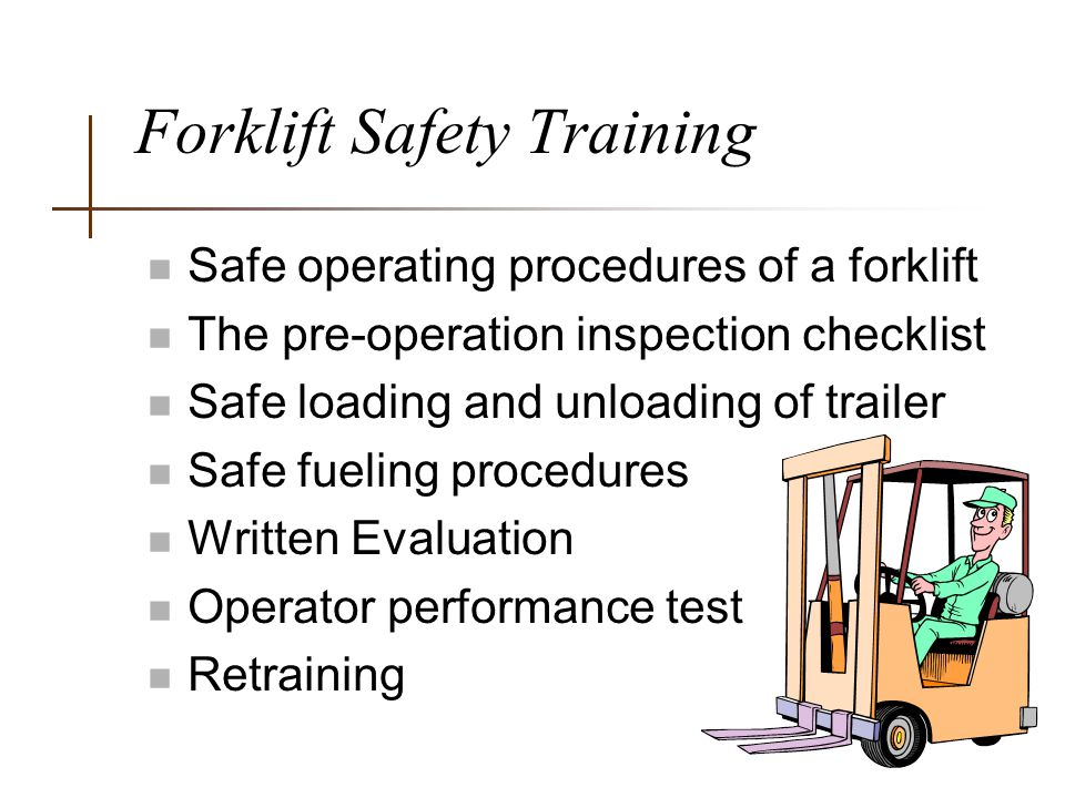 forklift operator objective
