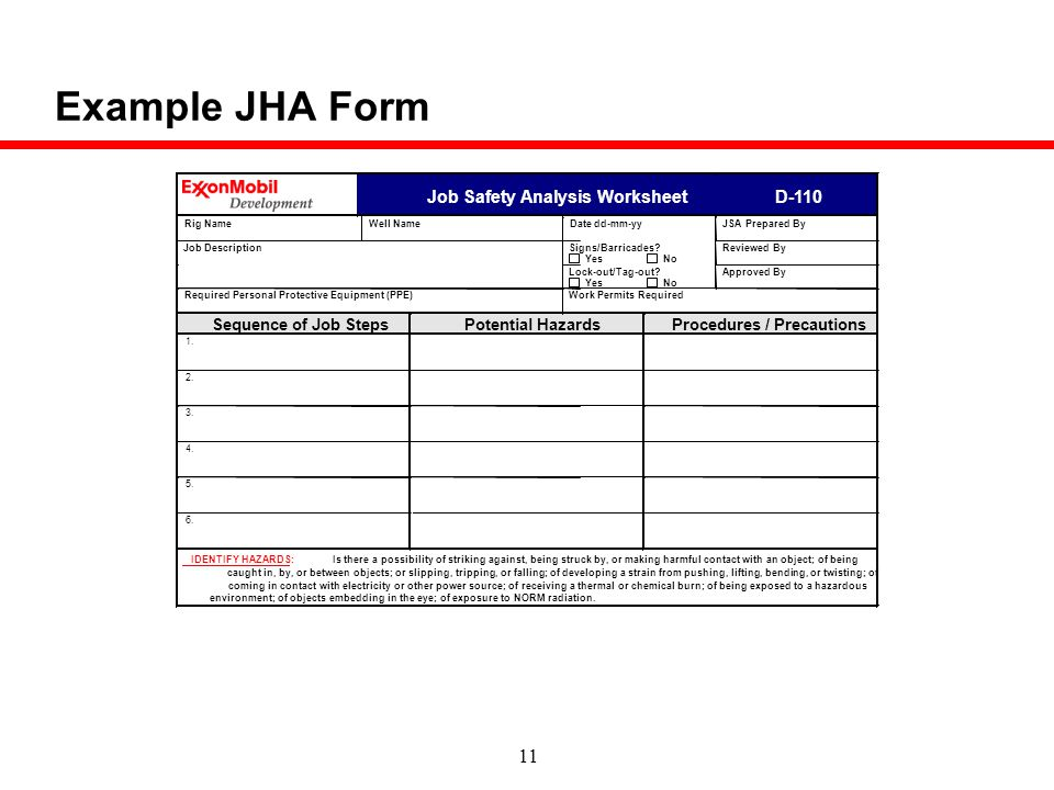 Job Safety Analysis Template - staruptalent - - jsa form template