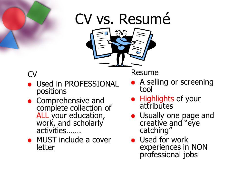 nursing cv vs resume