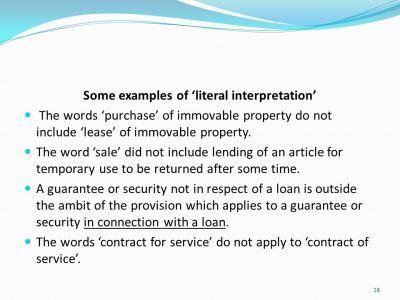Essential Rules of Interpretation of Statutes for company secretaries - ppt download