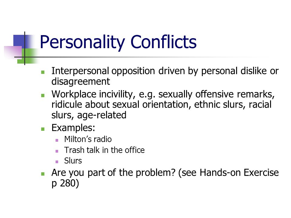 conflict at workplace examples - Minimfagency - interpersonal examples