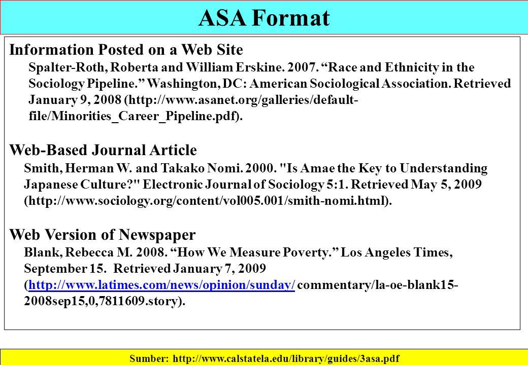 asa header format - Antaexpocoaching - asa style headings