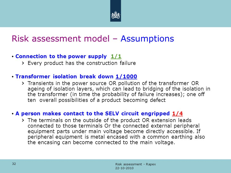 RISK ASSESSMENT How to perform the risk assessment - ppt video - product risk assessment