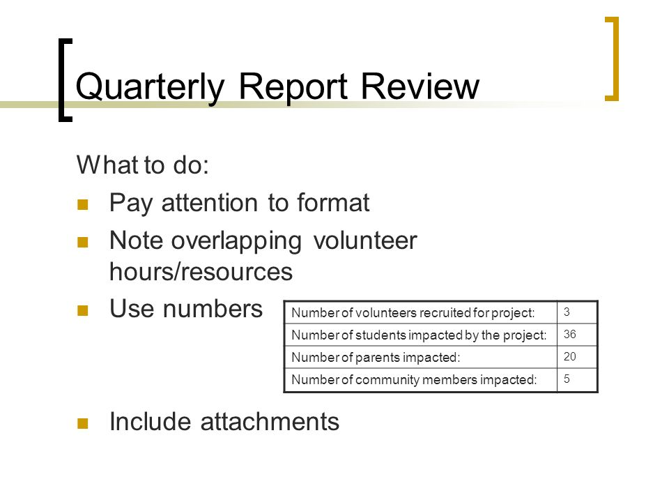Project Quarterly Report Template Financial Modeling Excel