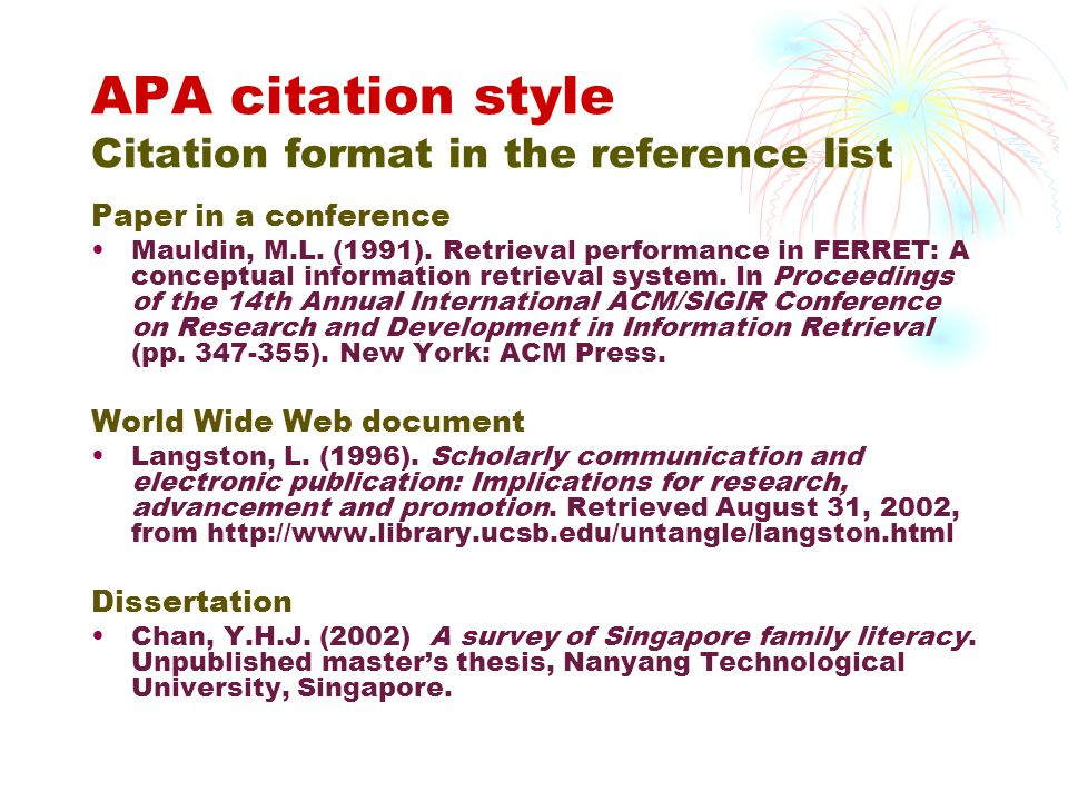 Apa style format website Essay Example - April 2019 - 2864 words