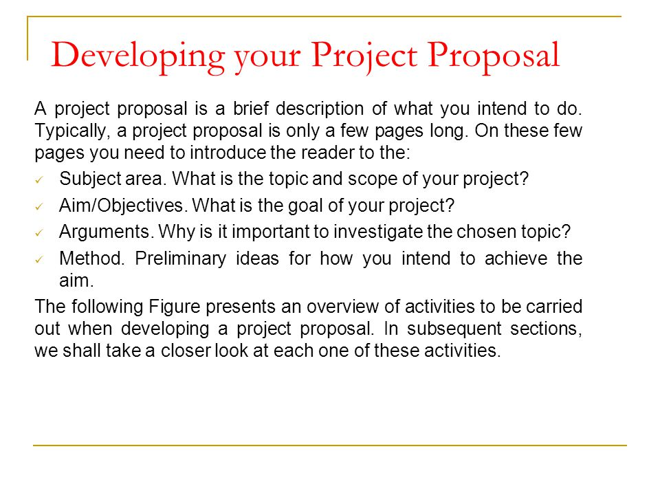 Project Proposal - ppt video online download - project proposal