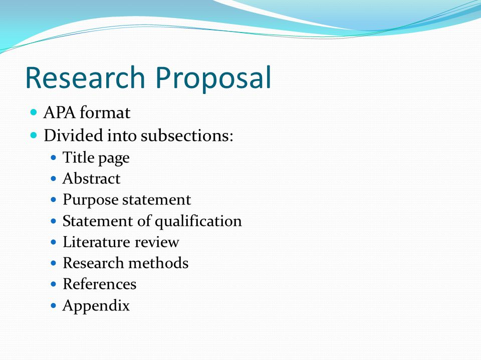 Research paper proposal example apa format 2018 - Essay purchase