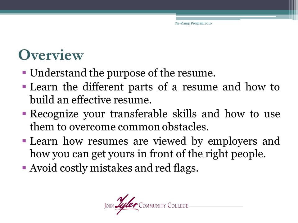 Resume Writing Presenters Judy Taylor, Professional Counselor - purpose of a resume