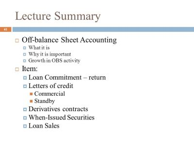 Off-Balance-Sheet Banking - ppt download
