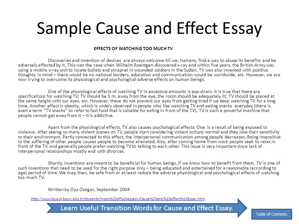 effect essay sample sample essay cause and effect co good objective