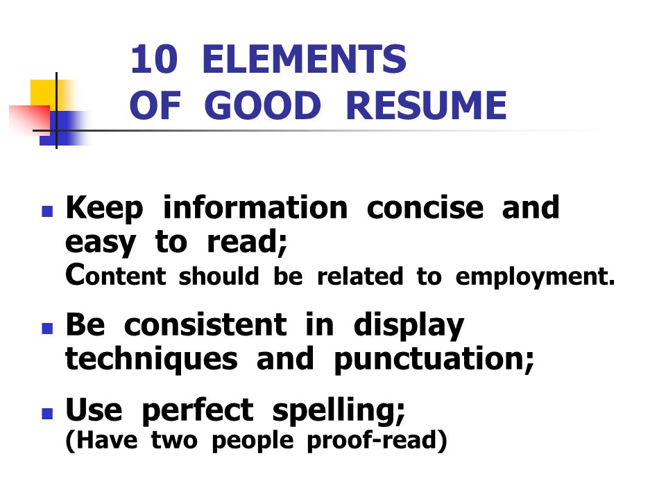 best elements of a good resume gallery simple resume office