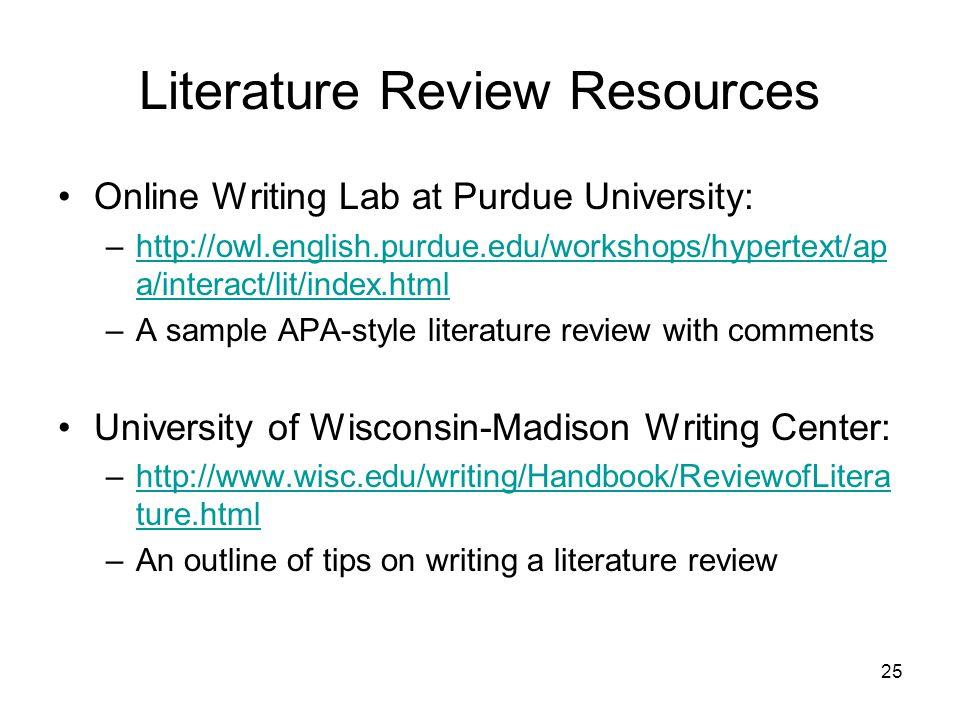 Apa literature review format 6th edition \u2013 Maherlawoffice