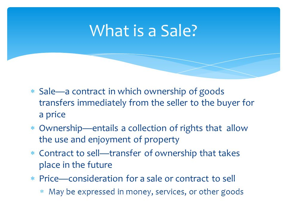 Sales Contracts Chapter ppt download - sales contract