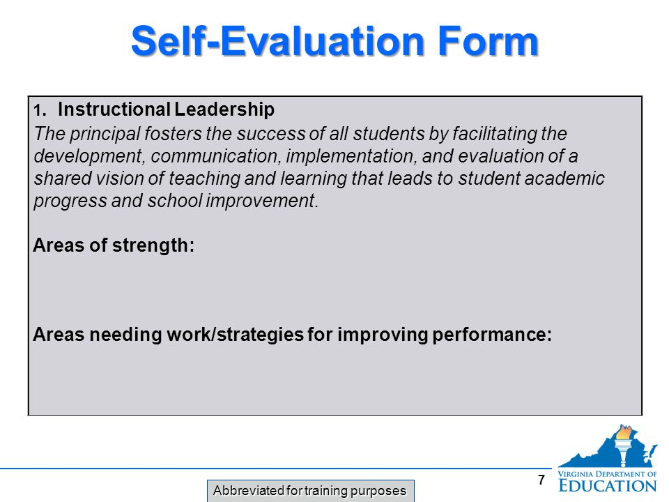 Leadership Evaluation Form