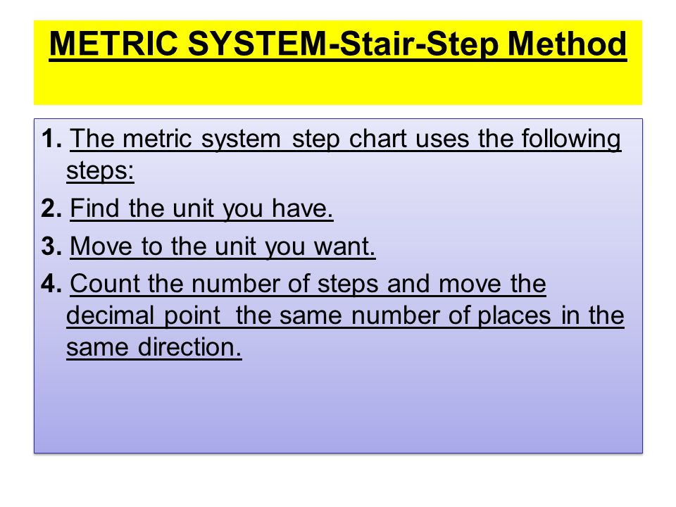 Metric Conversions Ladder Method Ppt Video Online Download