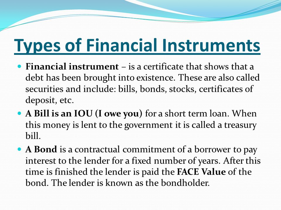 Section 4 \u2013 The Financial Sector - ppt video online download - i owe you certificate