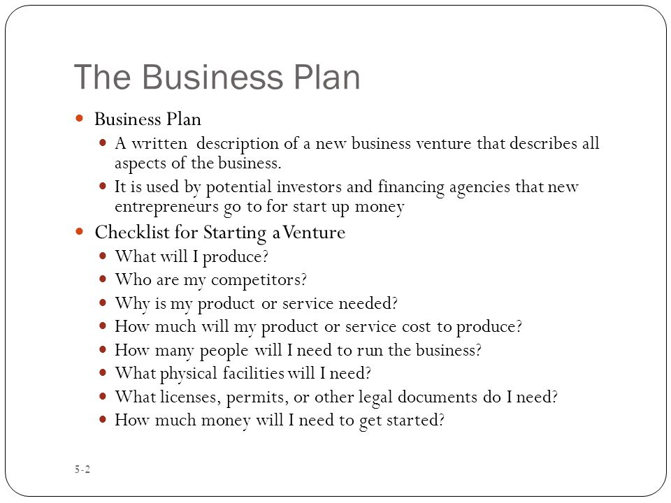 Intro To Business Ch 5 Entrepreneurship - ppt video online download - business startup checklist