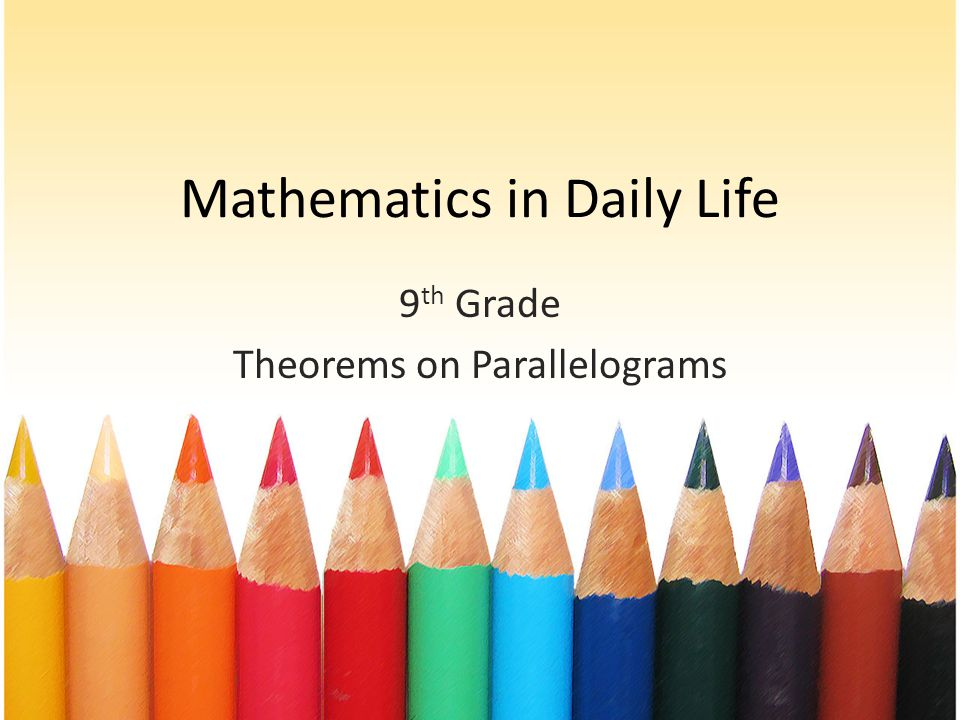 Math in daily life ppt - gm6info
