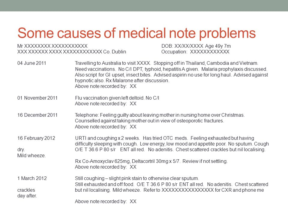Medical Negligence from a GPu0027s perspective - ppt video online download - medical note