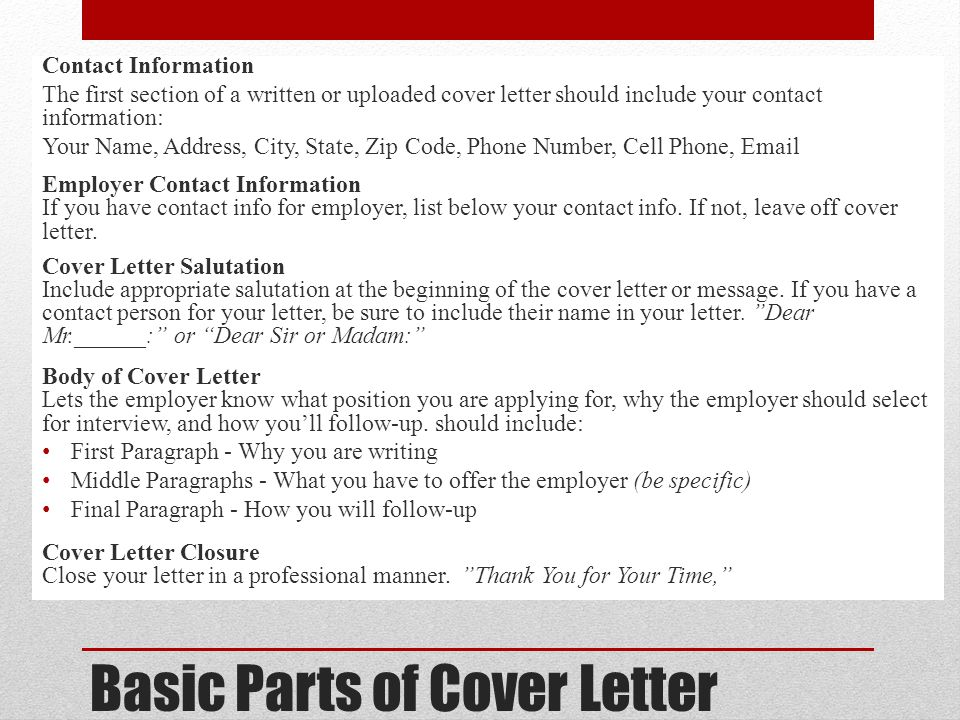 components of a cover letter - larry pelham rph ms fashp director