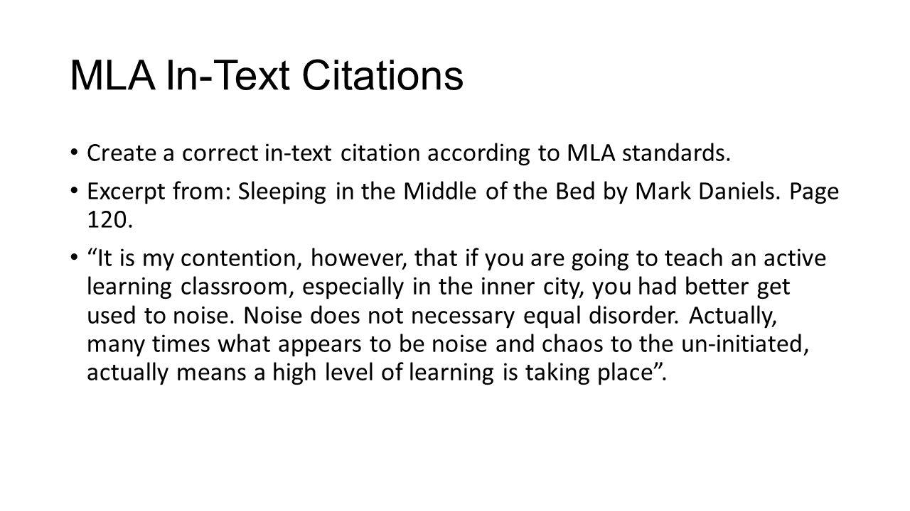 correct mla citation