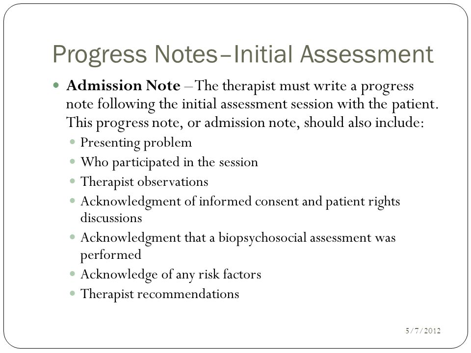 Writing Progress Notes - ppt video online download - progress note