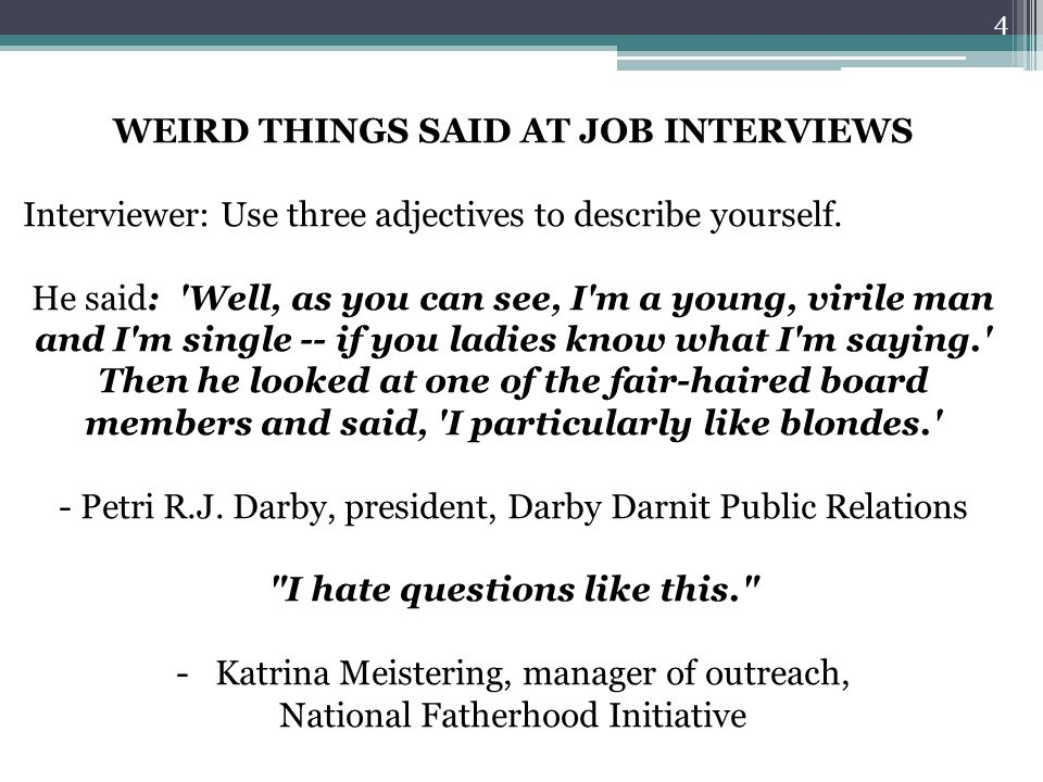 Describe Yourself Job Interview Essay