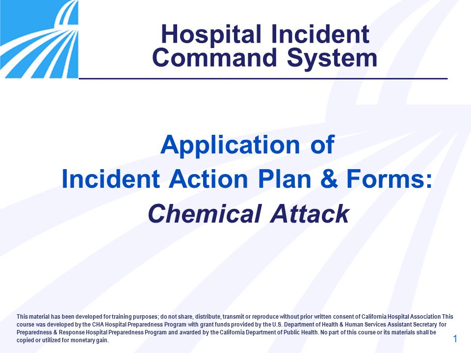 Application of Incident Action Plan \ Forms Chemical Attack - ppt - incident action plan