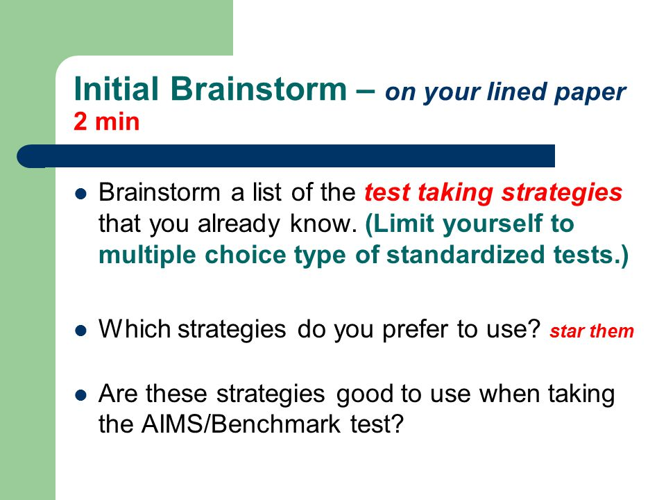Test Taking Strategies - ppt download - lined paper to type on