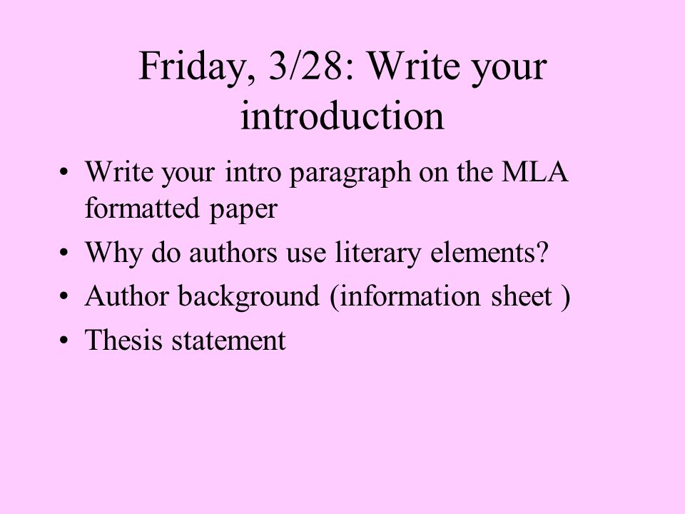 Mla format literary analysis essay
