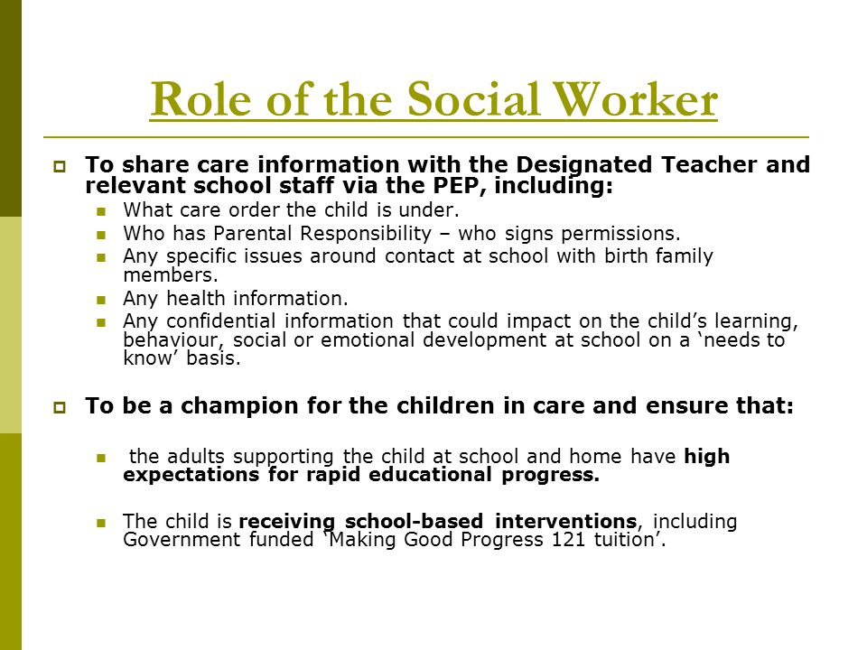 Role Of A Social Worker At